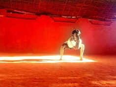 The elephant pose, called GAJAVADIVU as per Indian martial art kalaripayattu. Artist _ Tejesh kumar M