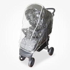 Accesorio ideal para proteger de la lluvia y el viento al bebé. Recubre el cochecito totalmente. Costuras impermeables y reforzadas. Material resistente adaptable en los modelos de cochecitos Carestino, modelo Travel Sistem.