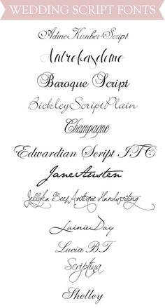 Never even thought about fonts before I started designing our invites. Now I need all the help I can get...