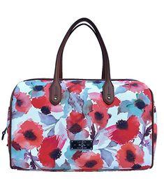 Lauren Ralph Lauren Clements Barrel Floral Satchel Handbag 45f3f50279893