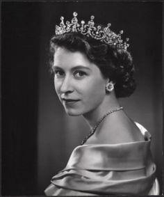 Queen Elisabeth --- -- by Yousuf Karsh, CC (Armenian: Յուսուֆ Քարշ; December 23, 1908 – July 13, 2002) an Armenian-Canadian photographer, and one of the most famous and accomplished portrait photographers of all time.