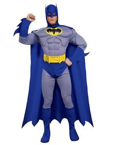 Classic Batman Costume Batman The Brave and The Bold Adult CostumeTeam up with other characters from the DC Universe to thwart villains and solve crimes!