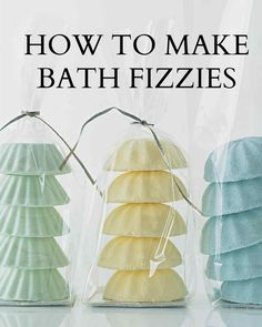 Bath Fizzies | Martha Stewart Living - Learn how to make bath fizzies to give as handmade gifts.