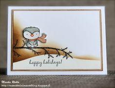 Marika Rahtu - Frost Bough Card - brown