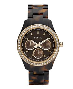 Fossil Watch, Women's Stella Tortoise. Have this, goes with almost anything!