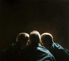 \'Whisperers\' Acrylic on canvas, cm, 2009 Truls Espedal Cool Paintings, Beautiful Paintings, Rembrandt Paintings, American Realism, Hyperrealism, Figure Painting, Painting Art, Deviantart, Art Studies