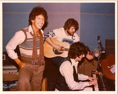 """Richard Perry, Randy Bachman, Burton Cummings...Los Angeles 1977. Working on the """"My Own Way To Rock"""" album. Randy played on Charlemagne, Song For Him, and Come On By. This was at Studio 55 on Melrose, which is long gone now. Burton Cummings, The Guess Who, My People, Reggae, My Hero, Songs, Studio, Musicians, Spiritual"""