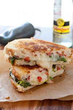 Chile Relleno Grilled Cheese | Grilled Cheese Heaven | Visit this #recipe and more at http://www.dreamingofleaving.com