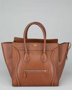 Celine Camel Palmelatto Leather Mini Luggage Bag