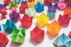 A large collection of paper fortune tellers by CatMacBride | Stocksy United