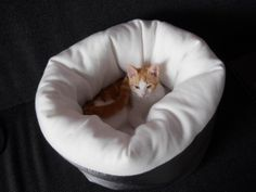 Cat bed - might be able to make this if I can figure out the supplies & measurements
