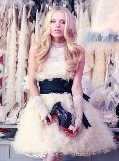 girly short wedding dress!