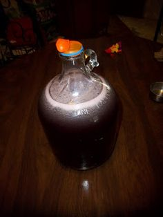 Homemade wine from fruit juice concentrate