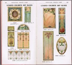 "rare pocket-size 1908 salesman's catalog of ""sash, doors, mouldings"" published by shattock & mckay co. in chicago, for south side millwork co. in milwaukee, wisconsin - Stained Glass Windows - Products"