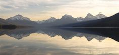 Lake McDonald Sunrise Panorama 4.12.16 | NPS / Jacob W. Frank | Glacier National Park, Montana | pinned by haw-creek.com