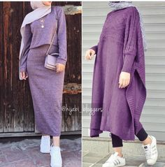 Oversized sweater dress hijab style – Just Trendy Girls: www. Source by nzshahdo hijab Casual Hijab Outfit, Hijab Chic, Hijab Dress, Hijab Fashion, Fashion Outfits, Modele Hijab, Muslim Women Fashion, Casual Sweaters, Trendy Dresses