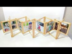 How to make photo frame with ice cream sticks Diy Crafts Hacks, Diy Crafts For Gifts, Diy Home Crafts, Diy Arts And Crafts, Photo Craft, Diy Photo, Ice Cream Stick Craft, Ice Cream Sticks, Picture Frame Crafts