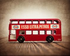 Vintage Matchbox Red Esso Bus