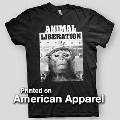 """ANIMAL LIBERATION"" AMERICAN APPAREL Men's T-Shirt"