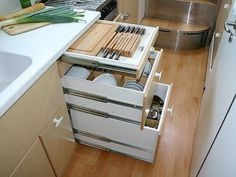 rv storage ideas | RV Ideas ~ Tiny Living / I love the storage ideas on this page.