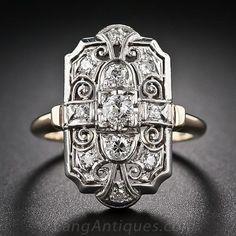 Art Deco Diamond Dinner Ring - 10-1-6138 - Lang Antiques