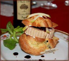 LA TABLE LORRAINE D'AMELIE: Choux au foie gras et confit de figue et Granny Smith