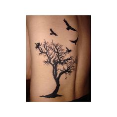 Tree Tattoo Pictures, Images & Graphics ❤ liked on Polyvore