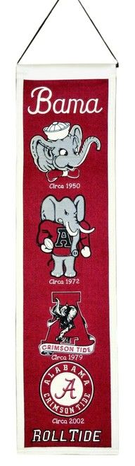 Alabama Crimson Tide Banner 8x32 Wool Heritage