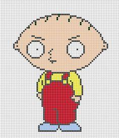 Stewie - Family Guy perler bead pattern