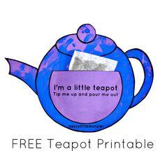 Messy Little Monster: Im a little teapot craft