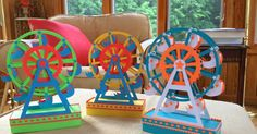A Paper Ferris Wheel That Really Spins because there is an axle built inside the wheel. This Ferris Wheel makes a perfect gi...