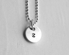 initial necklace. personalized initial in by MeadowbelleMarket