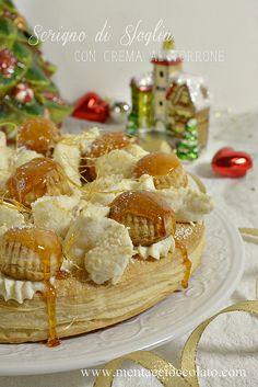 Menta e Cioccolato: MENU' DI NATALE: Il dolce - Scrigno di Sfoglia con Crema al Torrone