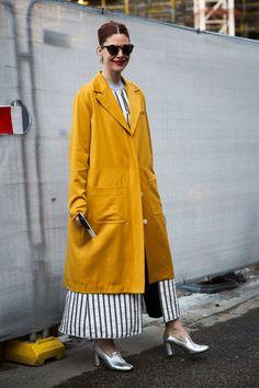 Attendees at London Fashion Week Fall 2016 - Street Fashion
