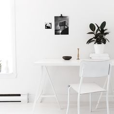 S2 20 white workspace by my unfinished home