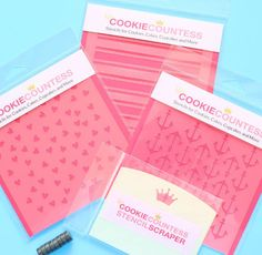 Use the medium polka dot cookie stencil to decorate cookies, chocolate covered Oreos, fondant cupcake toppers and more! Stencil on the designs with royal icing, airbrushing or even our edible food pai