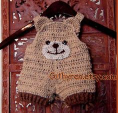 Baby Teddy Bear Shortall Overall Shorties Romper Buttons at