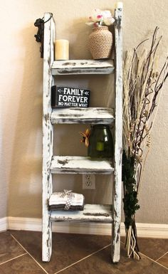 Items similar to Amazing Rustic Antique White Blanket Ladder, Towel Ladder, Rustic Ladder, Towel Rack, Clothes Ladder For Home Decor And Organize on Etsy Vintage Ladder, Rustic Ladder, Wood Ladder, Rustic Wood, Rustic Decor, Ladder Decor, Barn Wood, Rustic Farmhouse, Ladder Bookshelf