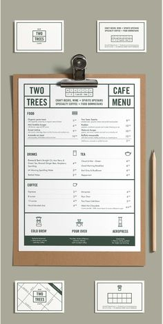 Modern menu design More