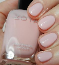 Zoya Dot- Dot is a classic ballerina pink creme-jelly. Even though it is really sqishy in finish, the formula was fairly opaque and easy to work with. I used Three thin coats for my swatch.  Zoya Awaken and Monet Swatches