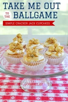 Simple Cracker Jack Cupcakes - Mad in Crafts