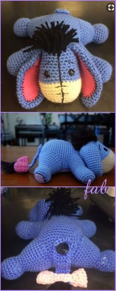 Crochet Eeyore Free Patterns - Crochet Eeyore Amigurumi Free Pattern