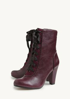 NEED these in white or purple or black  PLEASE. Victoria Lace-Up Boots By Chelsea Crew