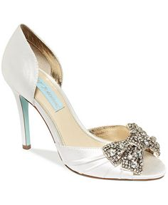 I just love how these shoes look - Blue by Betsey Johnson Gown Evening Pumps