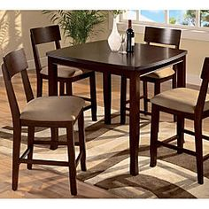 @Overstock - The Eirabella 5-piece Pub Set combines Old World charm and detail with modern functionality and scale. Solid wood construction with select veneers gives these tables and chairs long-lasting durability.http://www.overstock.com/Home-Garden/Eirabella-5-piece-Pub-Set/4703009/product.html?CID=214117 $726.99