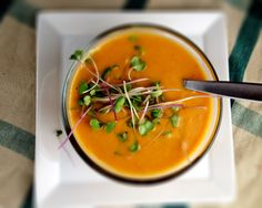sweet potato and peanut soup | Dishing Up the Dirt