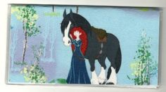 "Disney Brave Merida Checkbook Cover . $5.00. The sturdy clear VINYL COVER encases a fabric bonded design. Measuring 6 1/4"" x 3 1/4"",  the cover fits all standard bank checkbooks.  All checkbook covers come with a register flap and a duplicate check flap  just like the bank, only flashier."