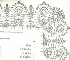 Crochet World added a new photo. Chevron Crochet Patterns, Crochet Table Runner Pattern, Crochet Motifs, Crochet Borders, Crochet Tablecloth, Crochet Diagram, Doily Patterns, Crochet Squares, Thread Crochet