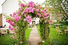 Huntstile Organic Farm rose arch
