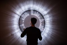 'Disco Disco' is a modular lighting system that visualizes sounds as a pixelated interplay between shadow and light.